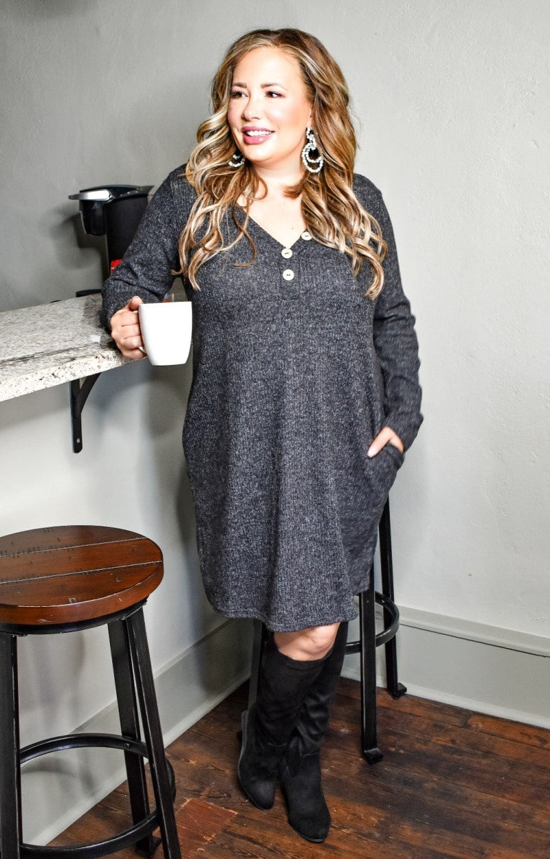 Endless Fun Dress - Charcoal