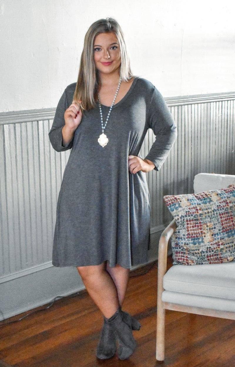 Load image into Gallery viewer, Can't Forget Me Dress - Charcoal