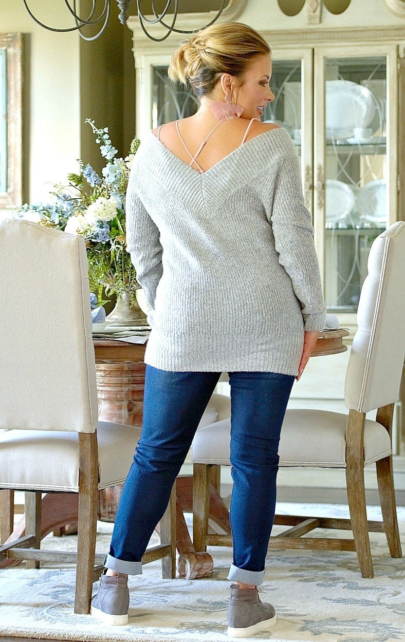 Load image into Gallery viewer, You Know Who Sweater - Heather Gray
