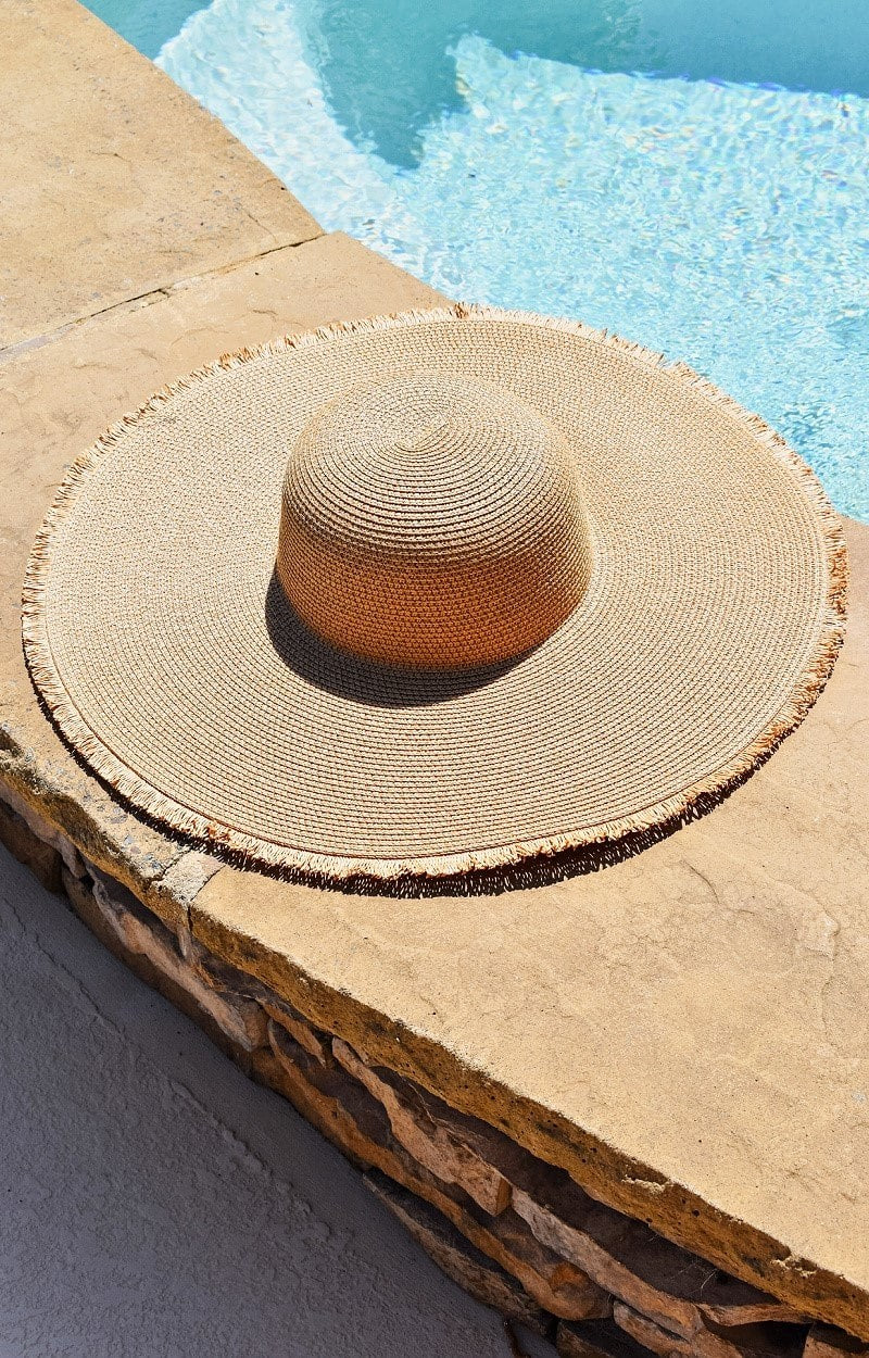 Load image into Gallery viewer, The Sunnier Side Floppy Hat - Tan
