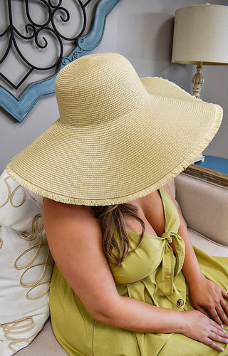The Sunnier Side Floppy Hat - Natural