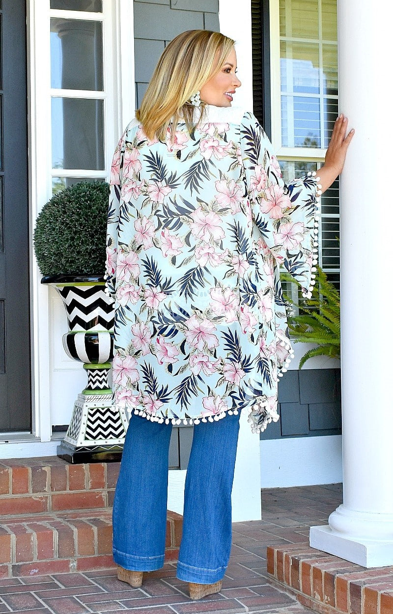 Load image into Gallery viewer, Headed To The Island Kimono - Mint
