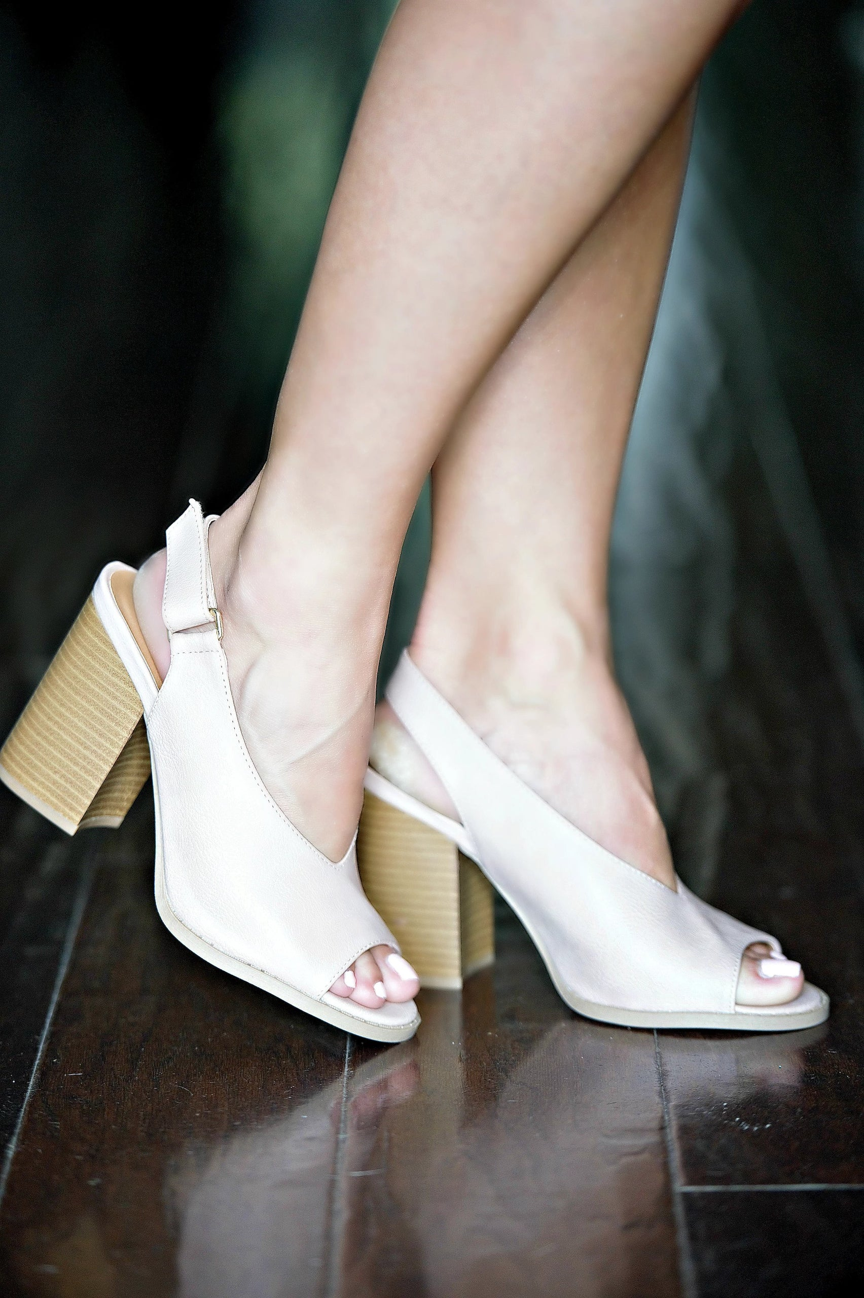 Load image into Gallery viewer, High Priority Slingback Heels - Nude