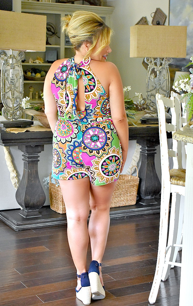 Load image into Gallery viewer, Hey Babe Print Romper - Multi