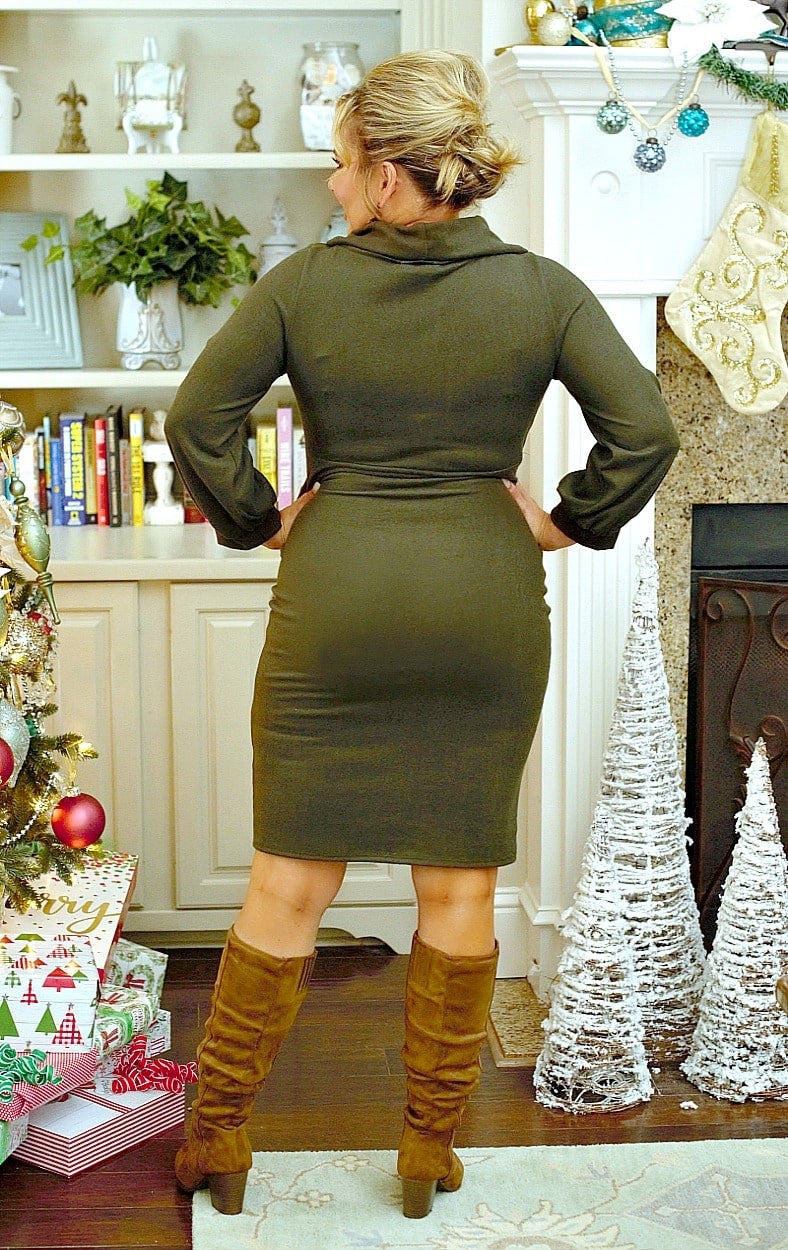 High Standards Dress - Olive