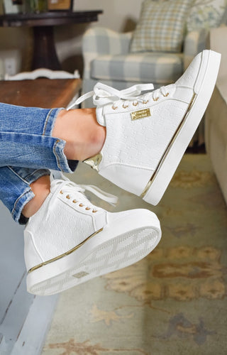 Coolest Ever Sneakers - White/Gold