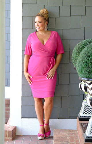 Out Of Your League Dress - Fuchsia