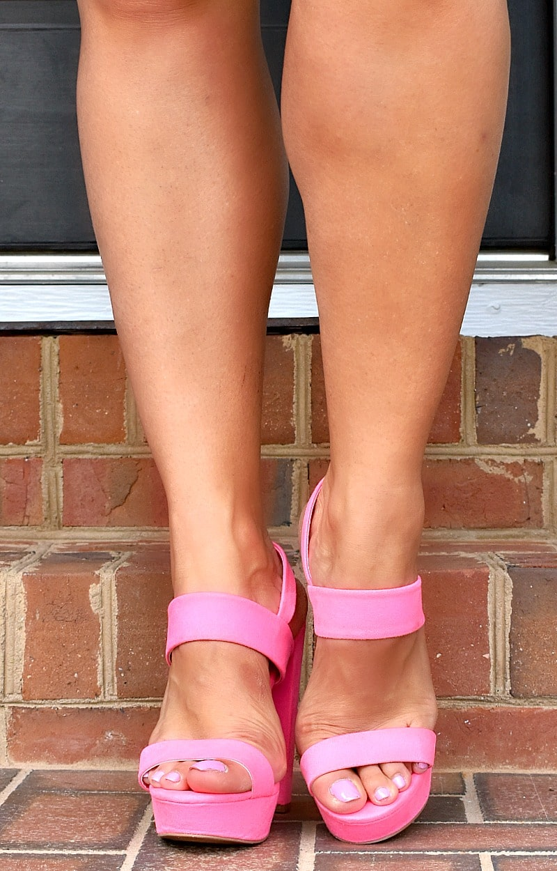 Load image into Gallery viewer, Your Biggest Fan Heels - Hot Pink