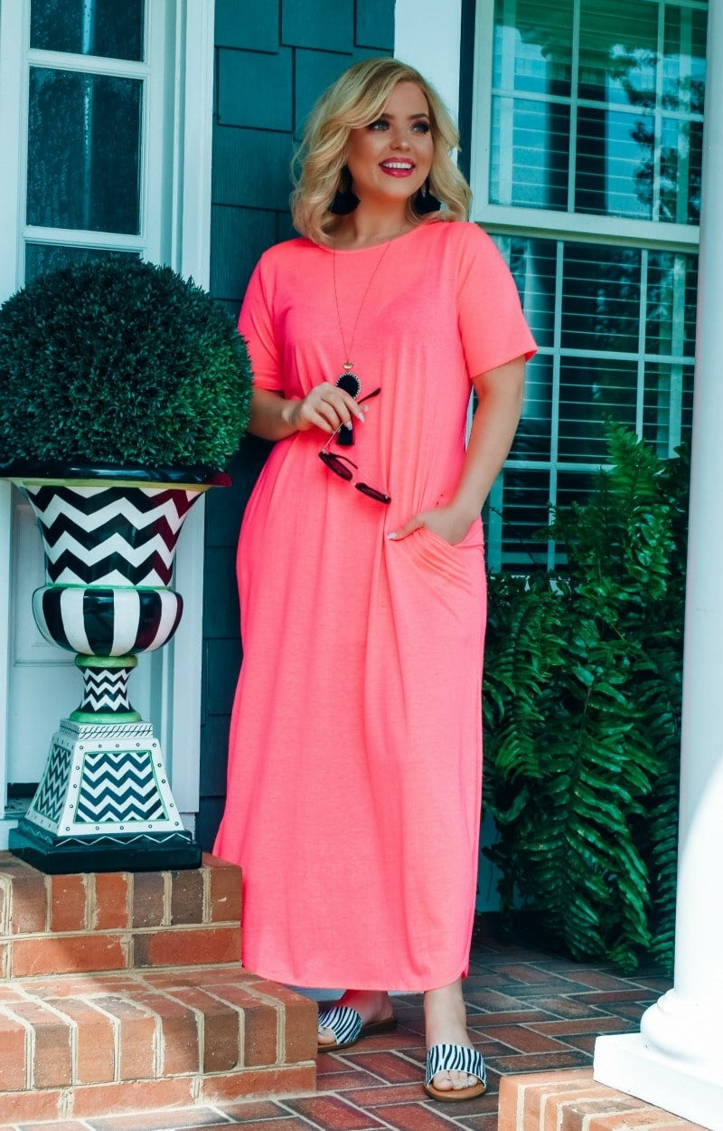 Load image into Gallery viewer, Don't Break My Heart Maxi Dress - Hot Pink
