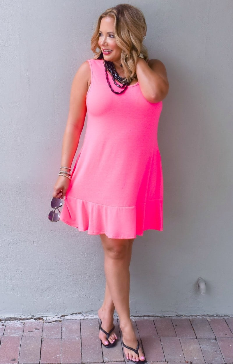 Load image into Gallery viewer, I'm After You Dress - Hot Pink