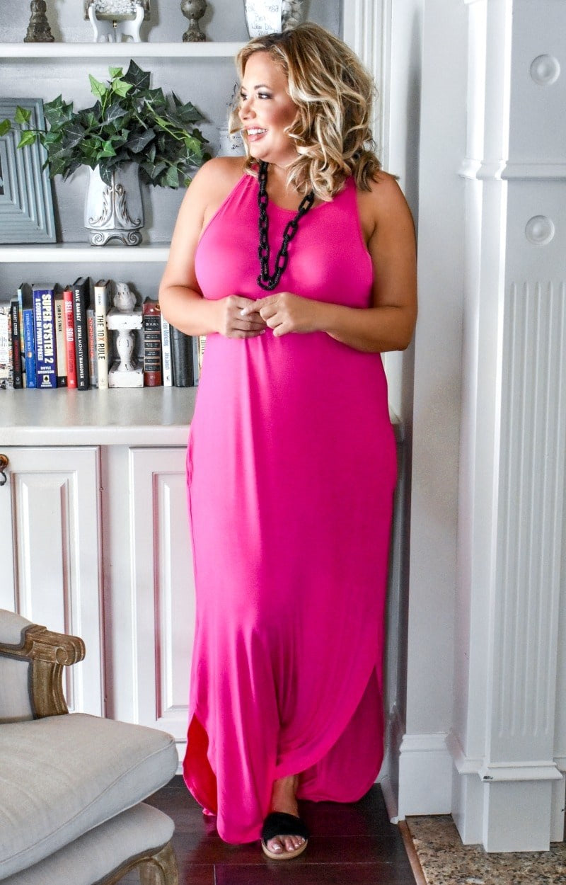Load image into Gallery viewer, Get With It Maxi Dress - Fuchsia