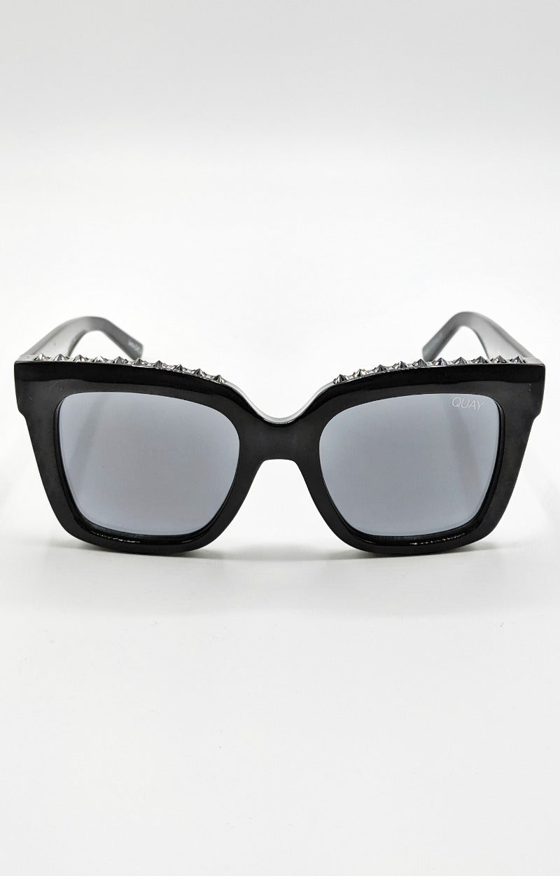Quay Australia - Icy Studs Black/Smoke Sunglasses
