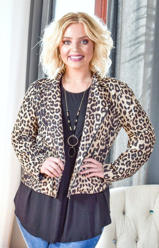 Time To Move Leopard Print Jacket