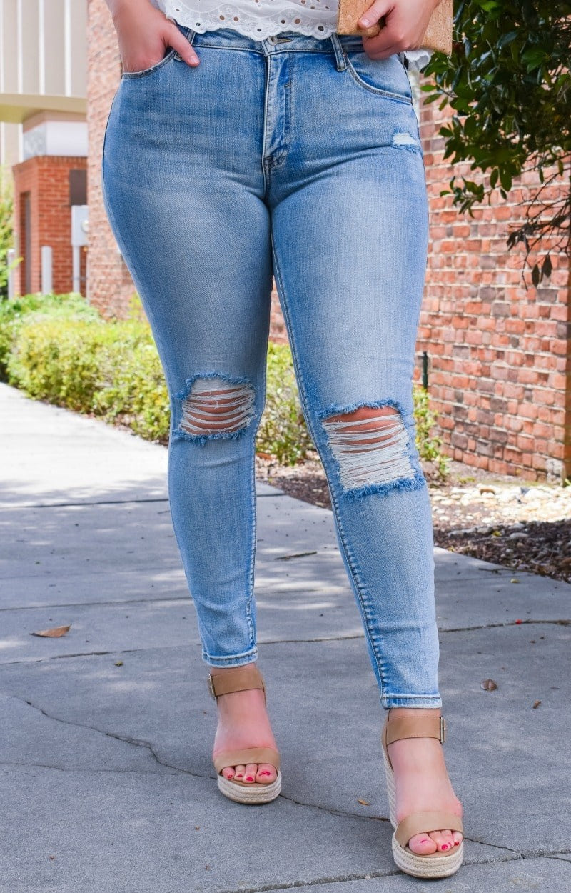 Want It All Distressed Skinny Jeans