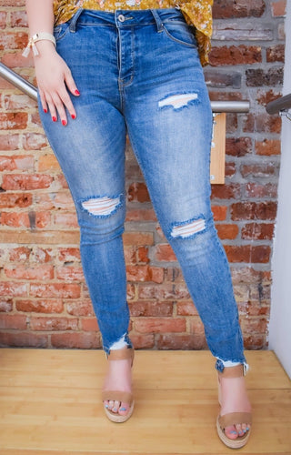 Slow And Steady Distressed Skinny Jeans