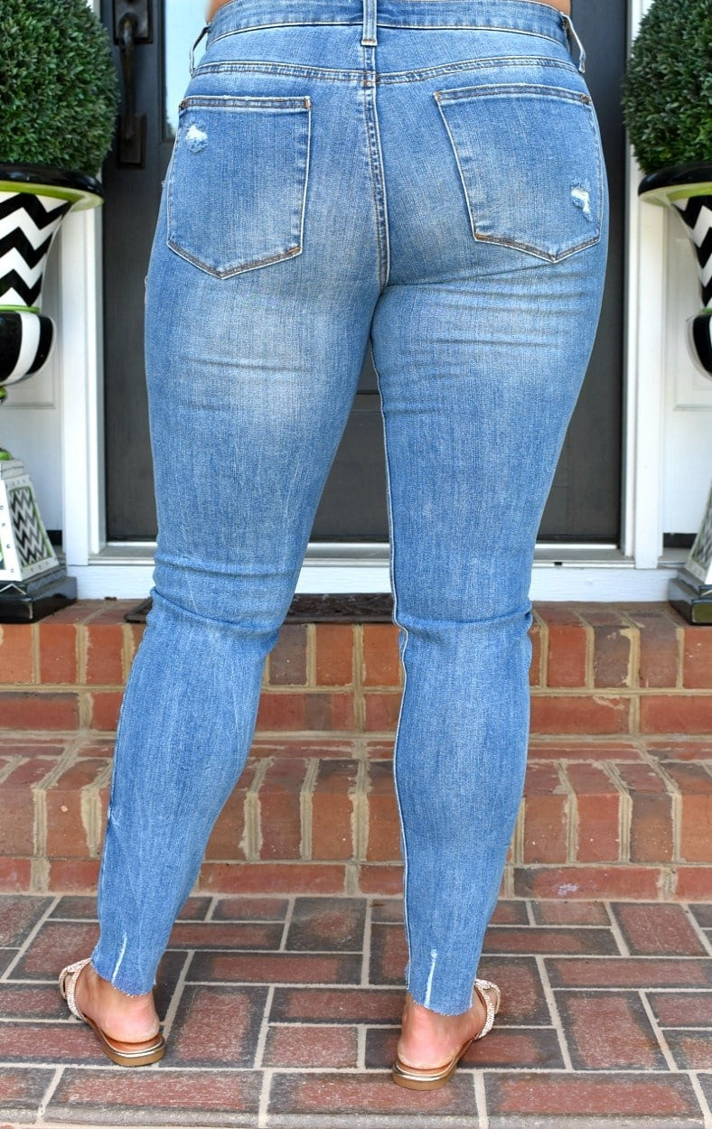 Grateful Heart Distressed Skinny Jeans