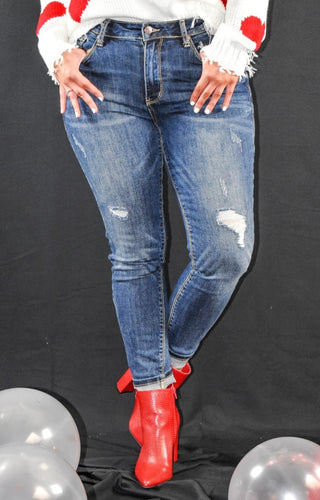 On Demand Distressed Skinny Jeans