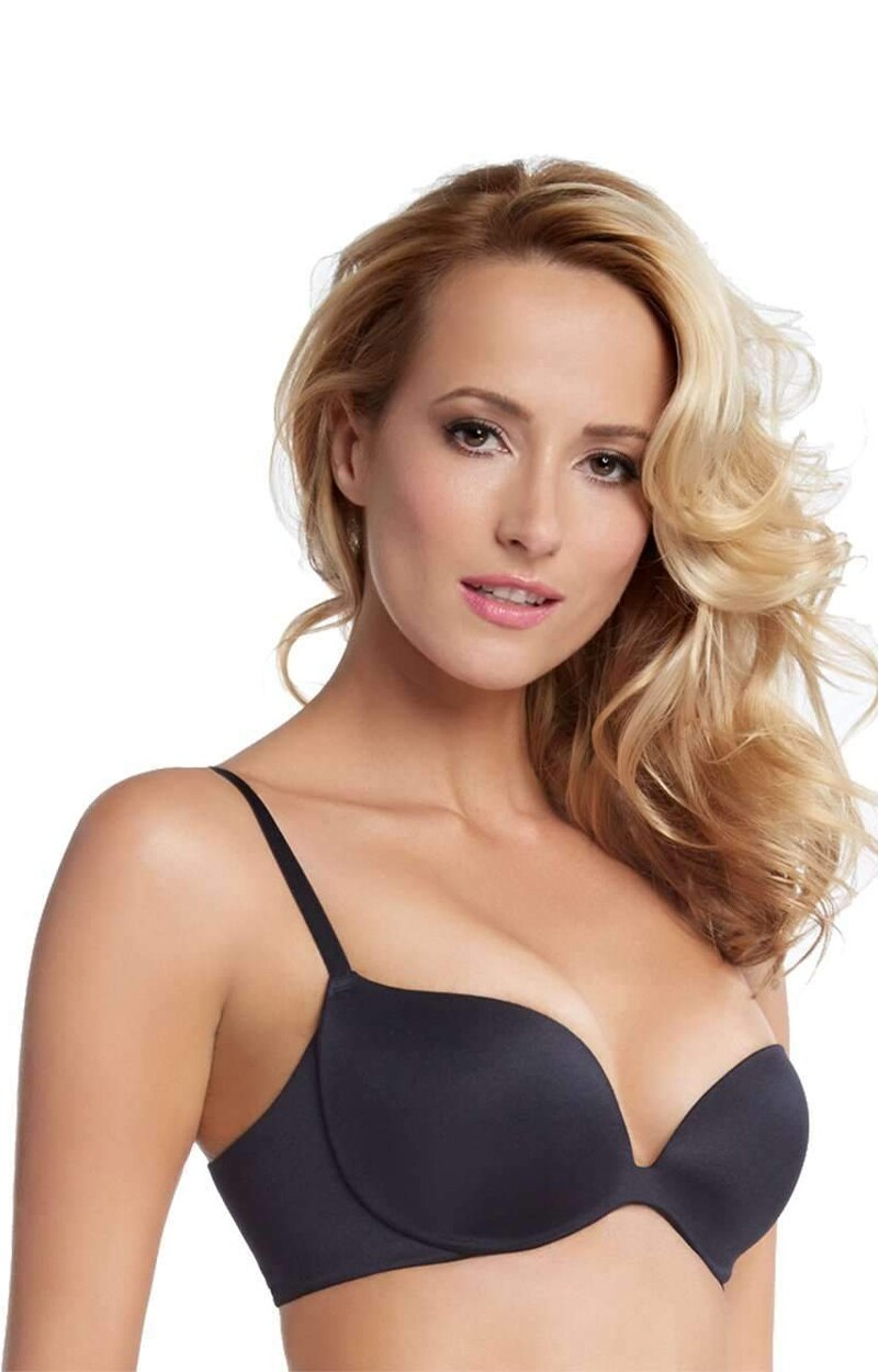 Load image into Gallery viewer, Joslyn Seamless Contour Plunge Bra - Black