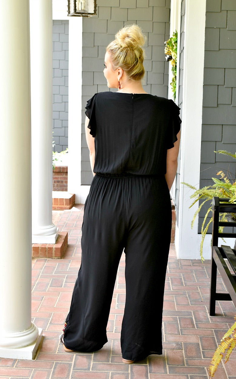 Load image into Gallery viewer, Stir It Up Embroidered Jumpsuit