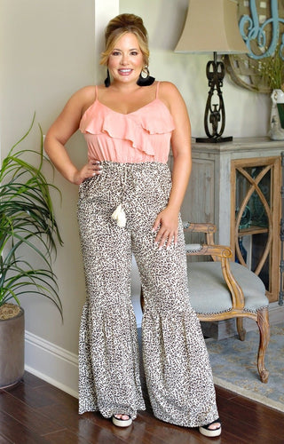 Take A Risk Leopard Print Jumpsuit
