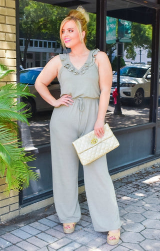 Love Potion Jumpsuit - Sage