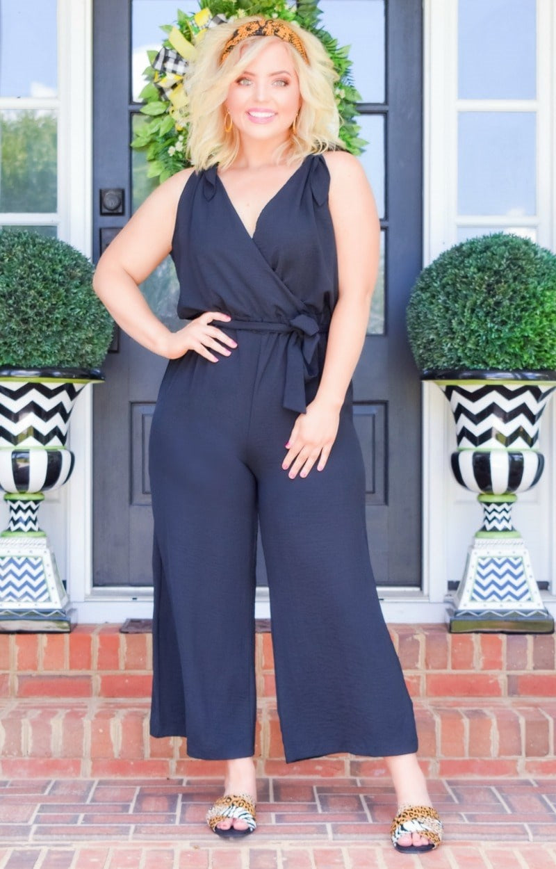 Load image into Gallery viewer, Be A Standout Jumpsuit - Black