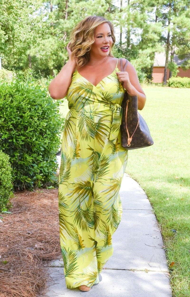 Load image into Gallery viewer, Sunny Situation Tropical Print Jumpsuit