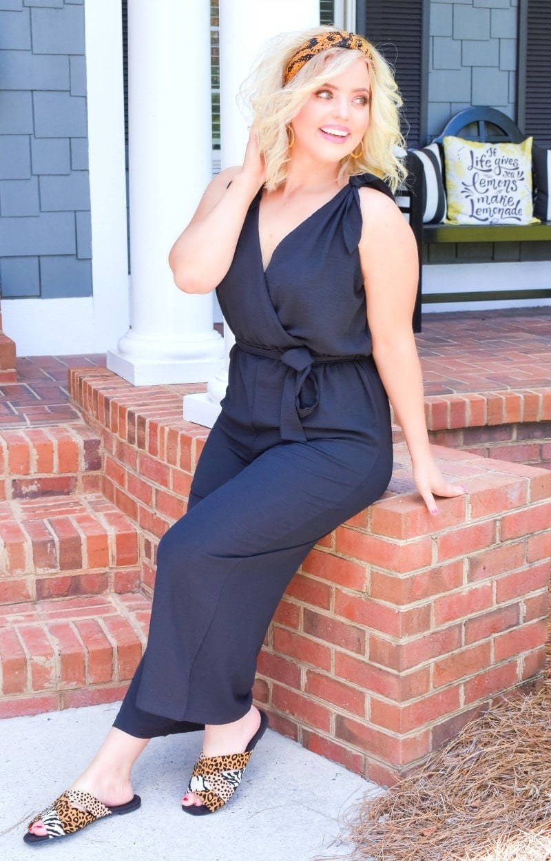Be A Standout Jumpsuit - Black