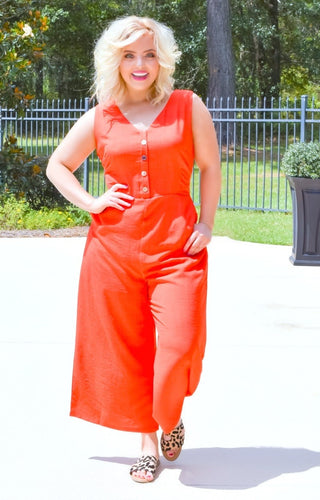 Sweet Talker Jumpsuit - Red