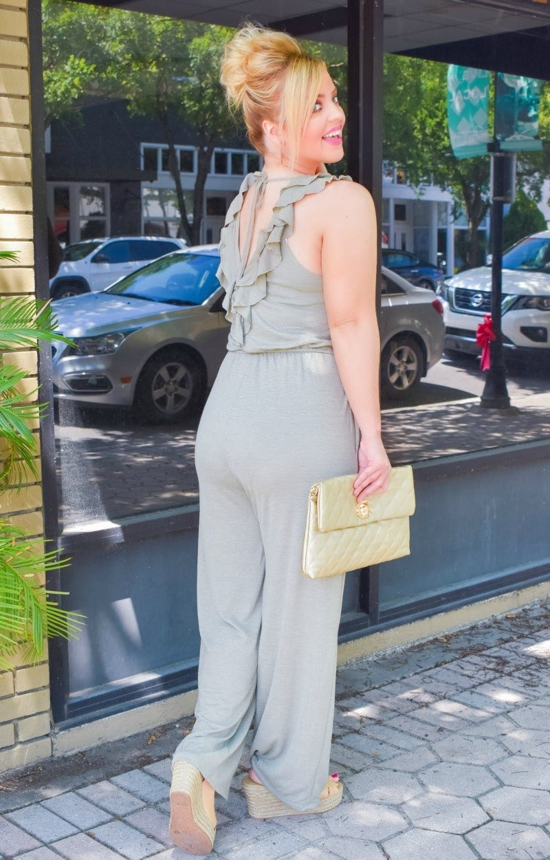 Load image into Gallery viewer, Love Potion Jumpsuit - Sage
