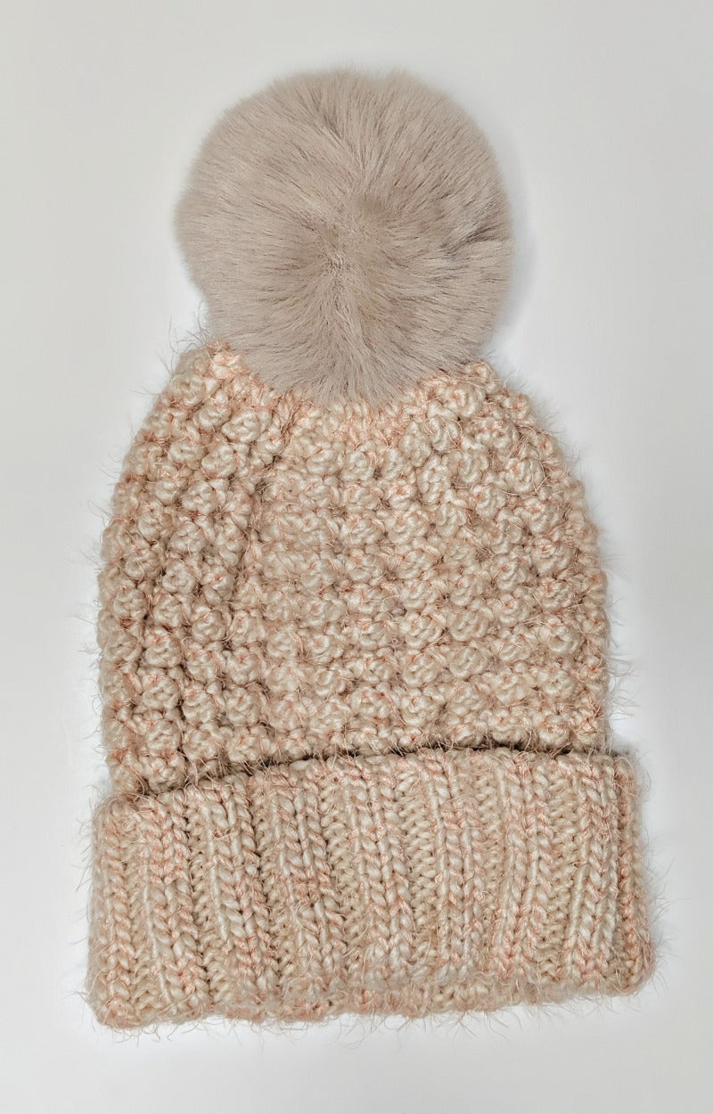 Load image into Gallery viewer, Just In Case Knit Beanie - Blush