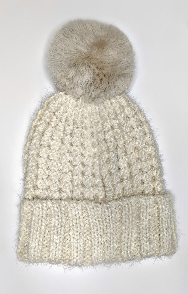 Load image into Gallery viewer, Just In Case Knit Beanie - Cream