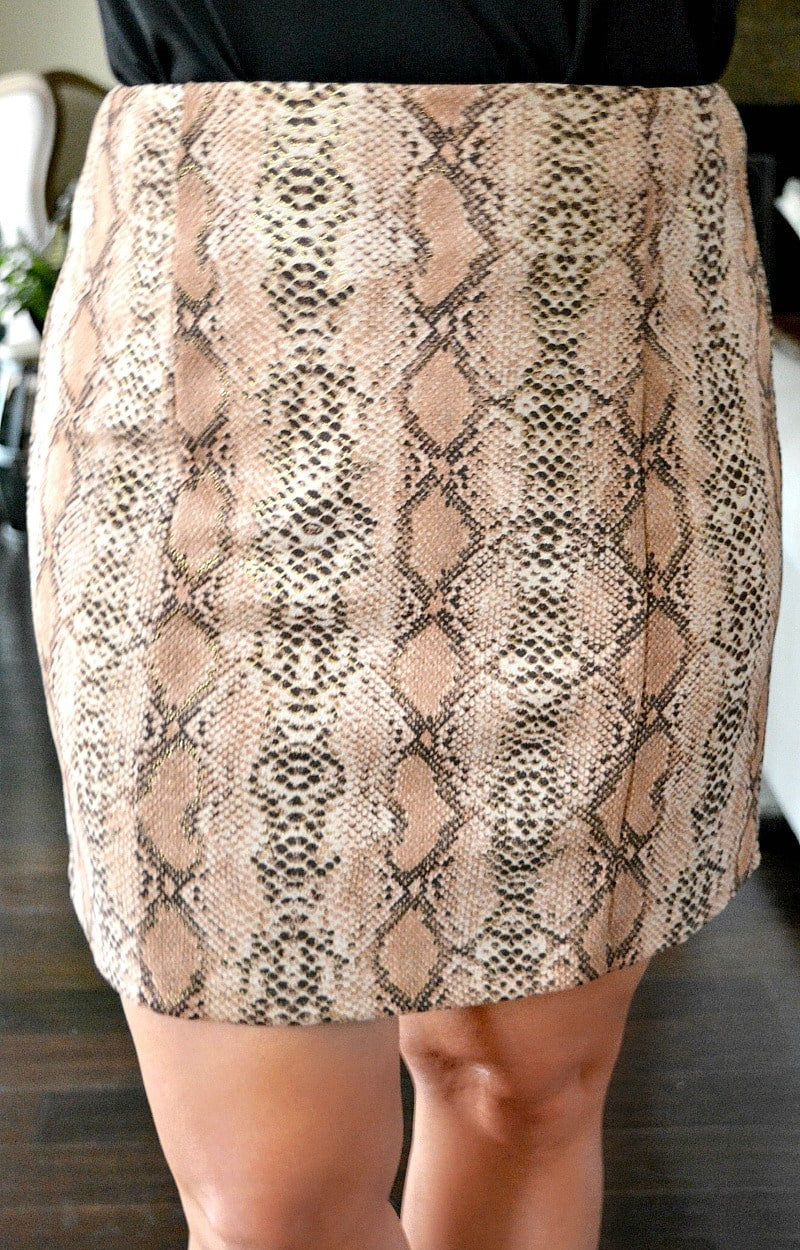 Load image into Gallery viewer, Just The One Snake Print Skirt