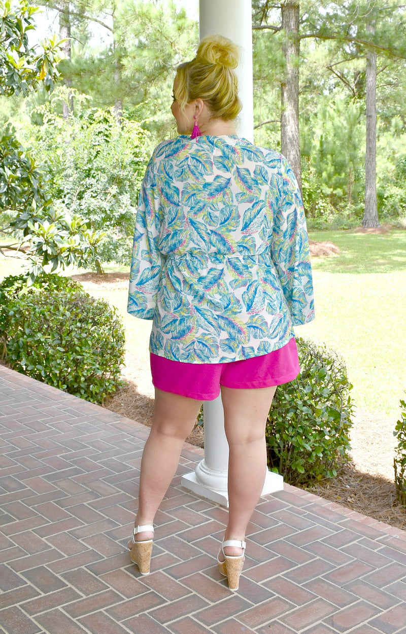 Load image into Gallery viewer, Catch My Breath Tropical Print Kimono