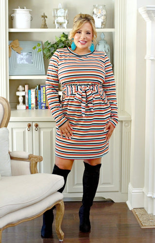 In Your Element Striped Dress - Multi