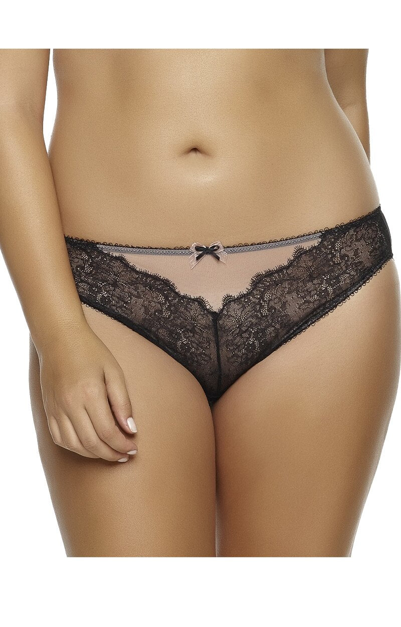 Load image into Gallery viewer, The Amber Lace Bikini Panty - Black