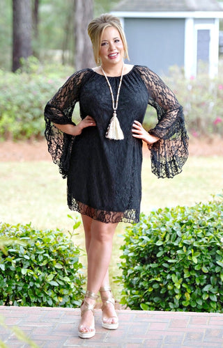 Must Be True Lace Dress - Black
