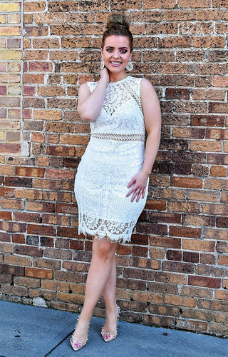 Out To Get You Lace Dress - Ivory