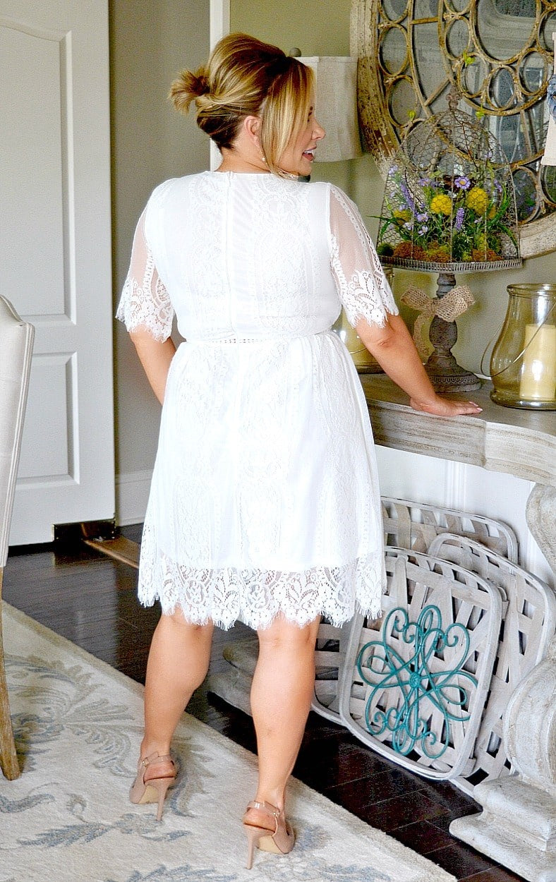 Thankful For You Lace Dress - White