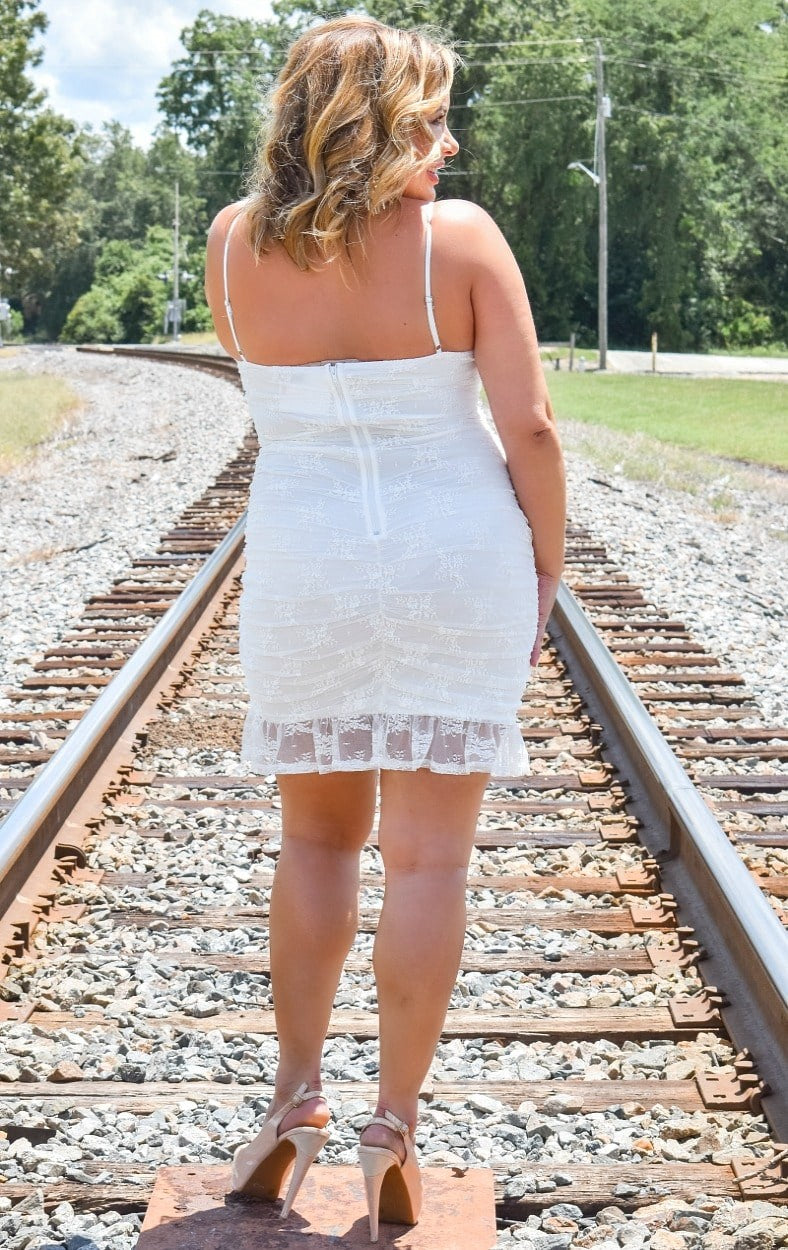 Load image into Gallery viewer, Lover's Game Lace Dress - Ivory