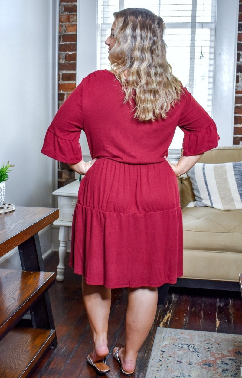 Load image into Gallery viewer, Catch Me Later Dress - Burgundy