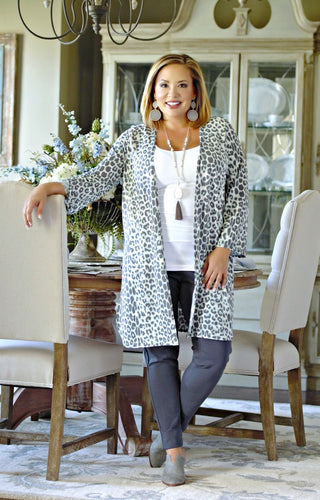 Blending In Leopard Print Cardigan