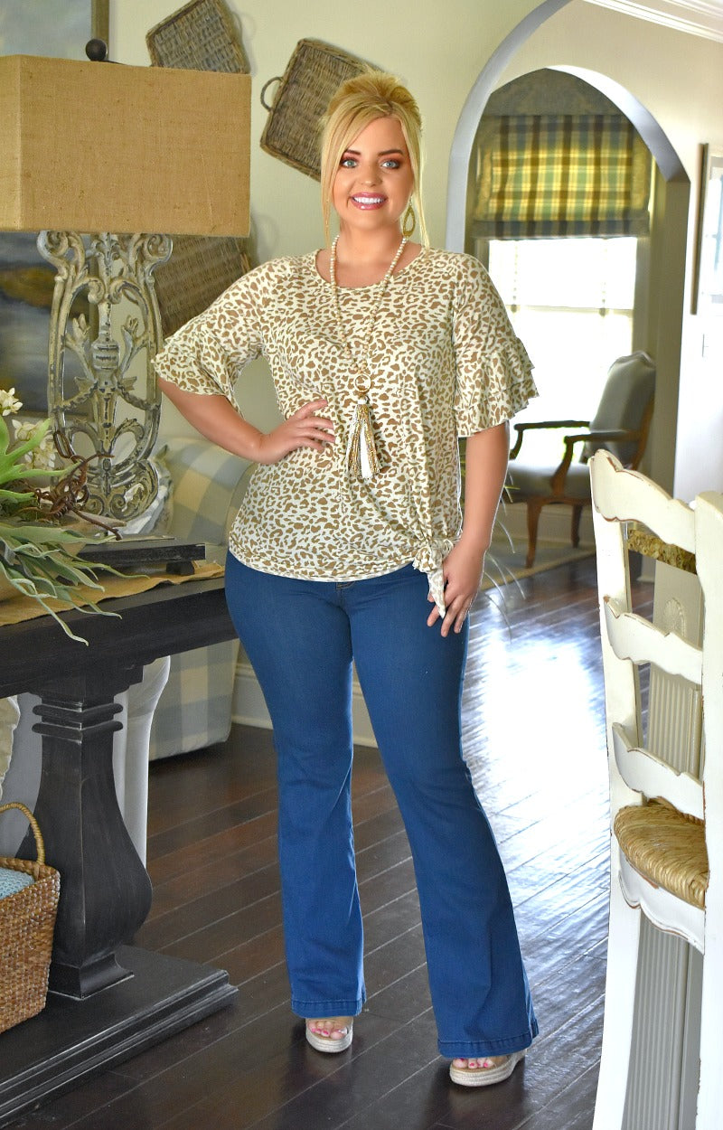 On The Hunt Leopard Print Top