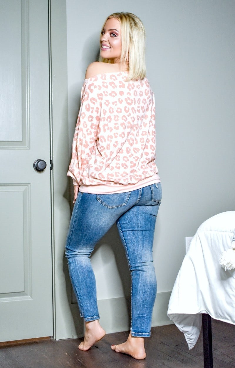 Lofty Ambitions Leopard Print Top - Pink