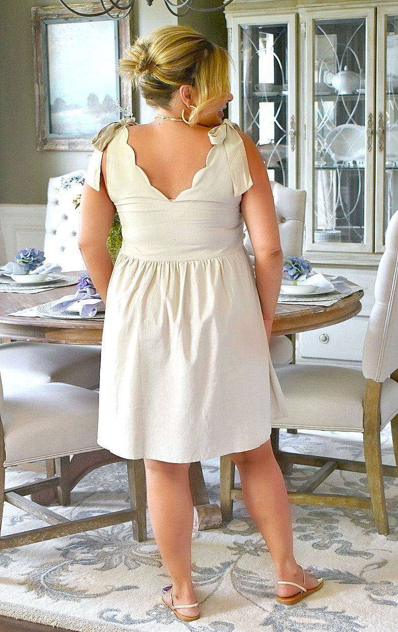 Load image into Gallery viewer, Down By The Shore Dress - Light Beige