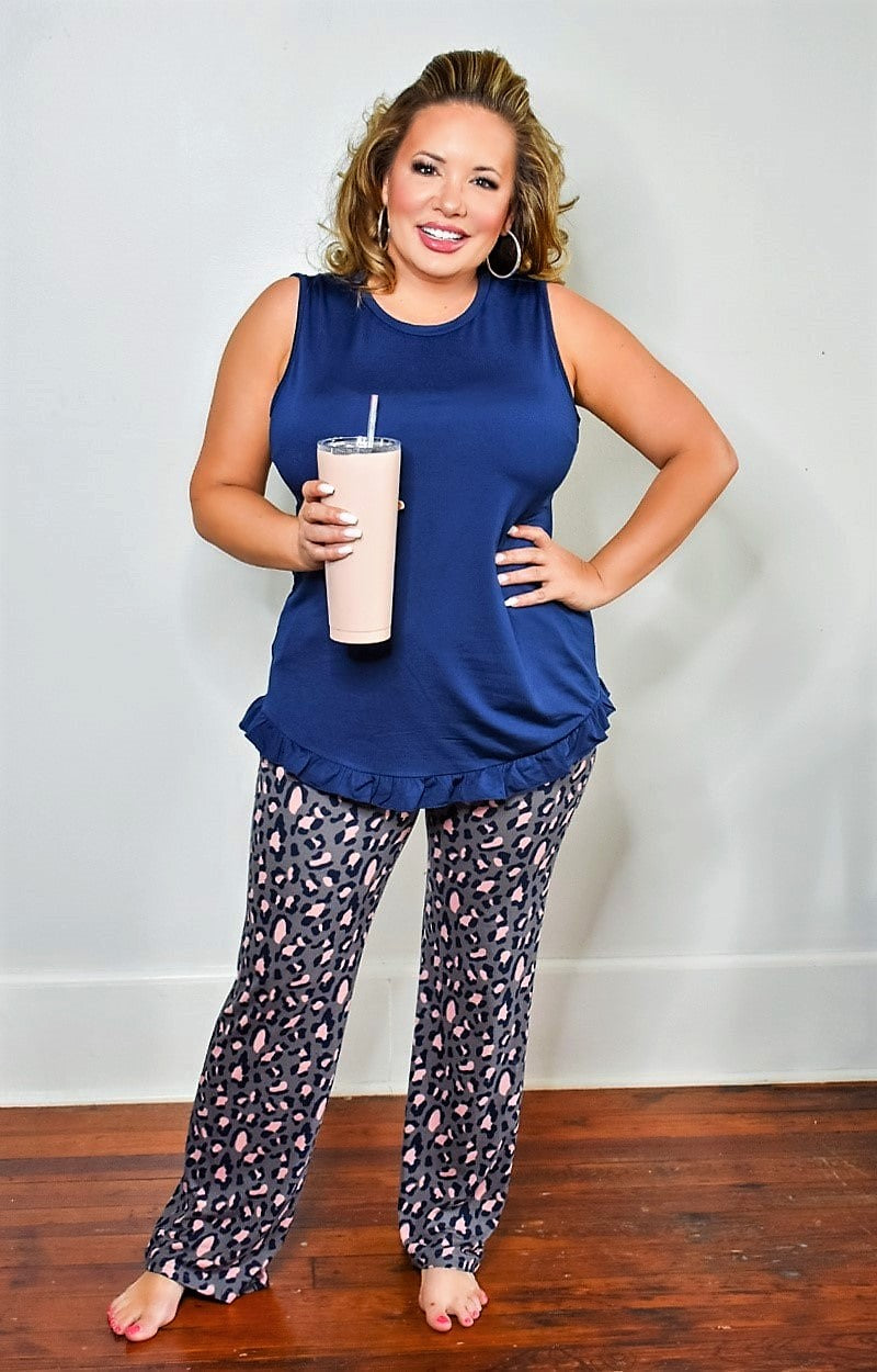 Short Story Top - Navy
