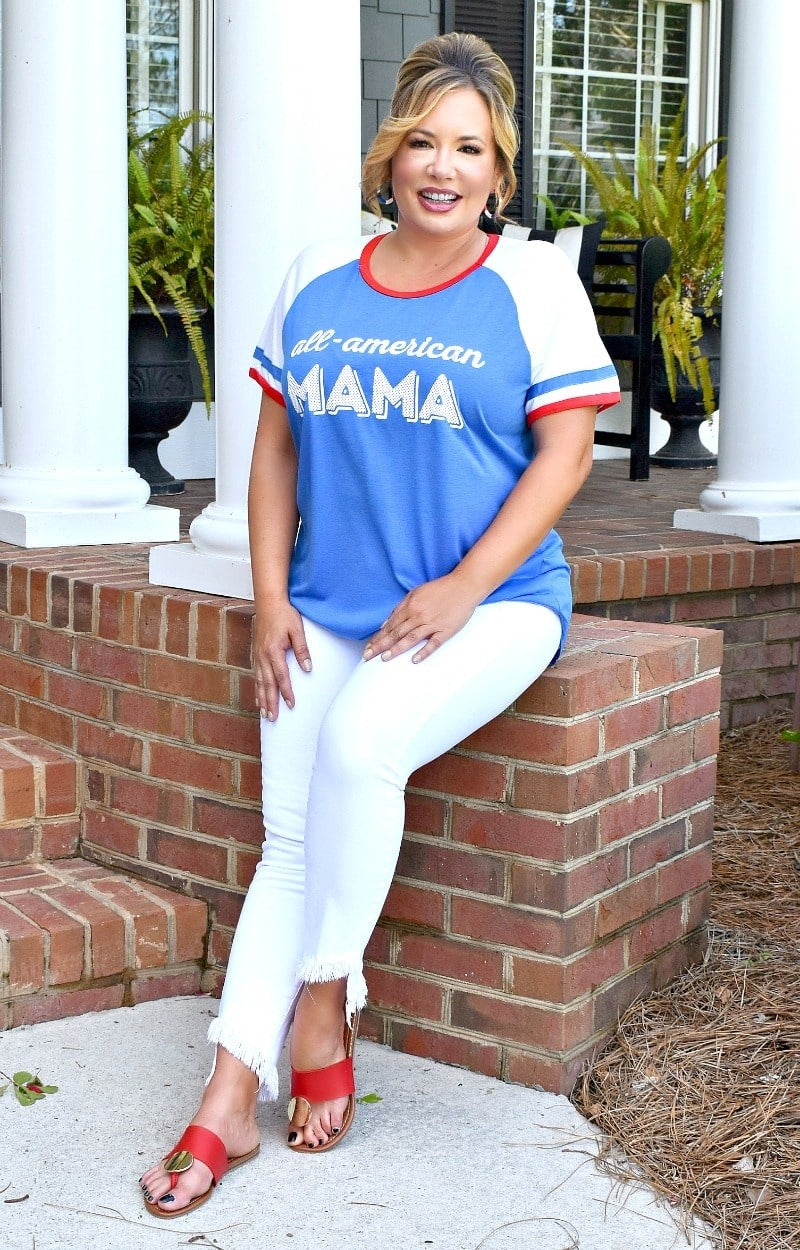Load image into Gallery viewer, All American Mama Top