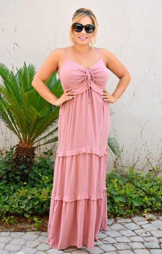 No Agenda Maxi Dress - Mauve