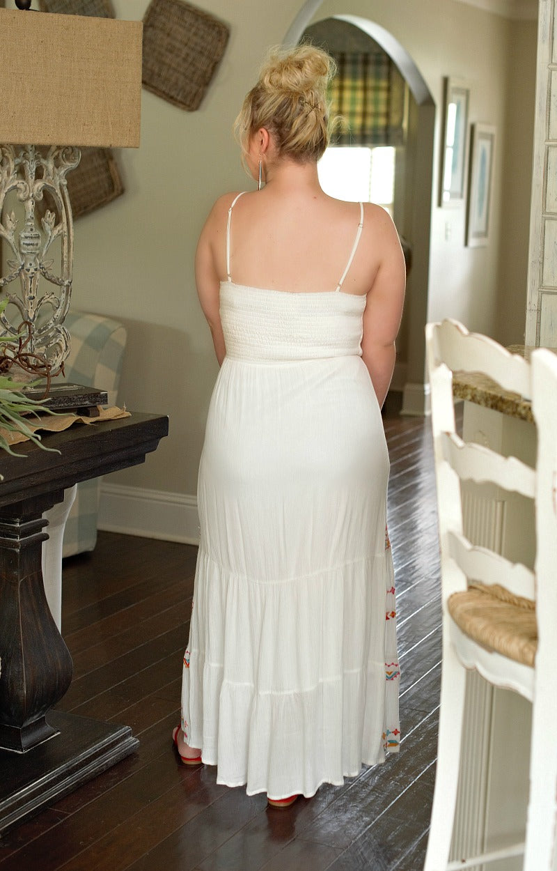 Load image into Gallery viewer, Summer Days Embroidered Maxi Dress