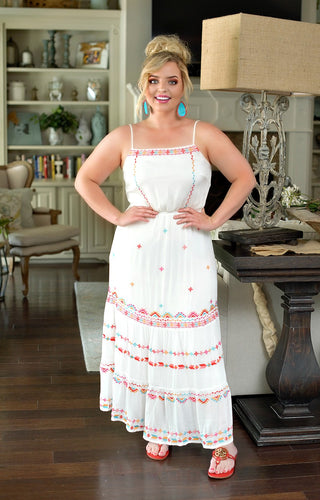 Summer Days Embroidered Maxi Dress